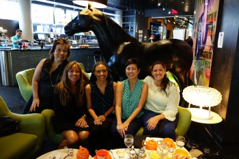 At low tea with Michele Henry Sorensen and the ladies of Lanakila Pacific.
