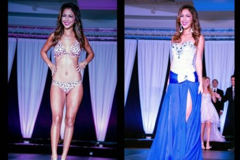 Kyla Hee during the swimsuit and evening gown competitions.