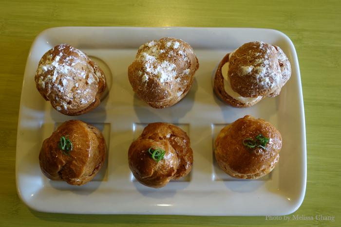 Sweet vs. savory: Cream puffs two ways.