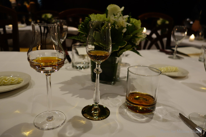 From left: Richard Hennessy, Hennessy Paradis Imperial, and the original Hennessy XO.