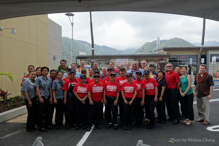 The Jack In The Box team at Niu Valley Shopping Center.