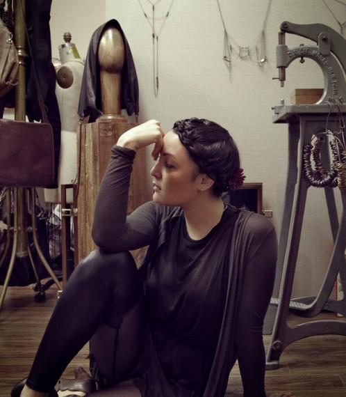 Bliss in her studio.