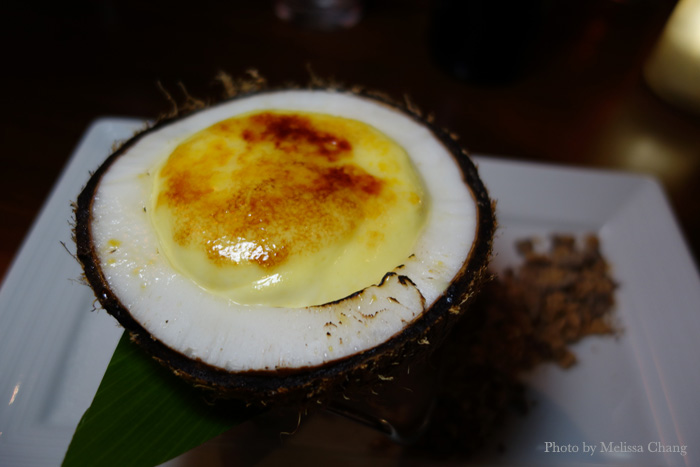 Coconut creme brûlée at Japengo.