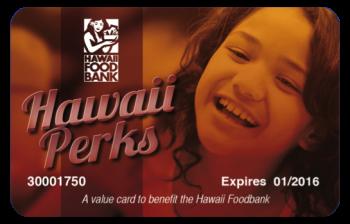 Foodbank Hawaii Perks Card