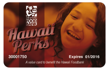 Foodbank Hawaii Perks Card
