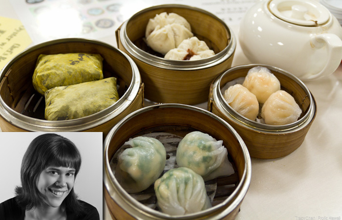 Tracy Chan and dim sum from Mei Sum.