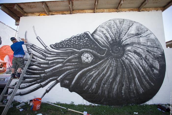 POW! WOW! Hawaii 2015 Mural Painting Day 2