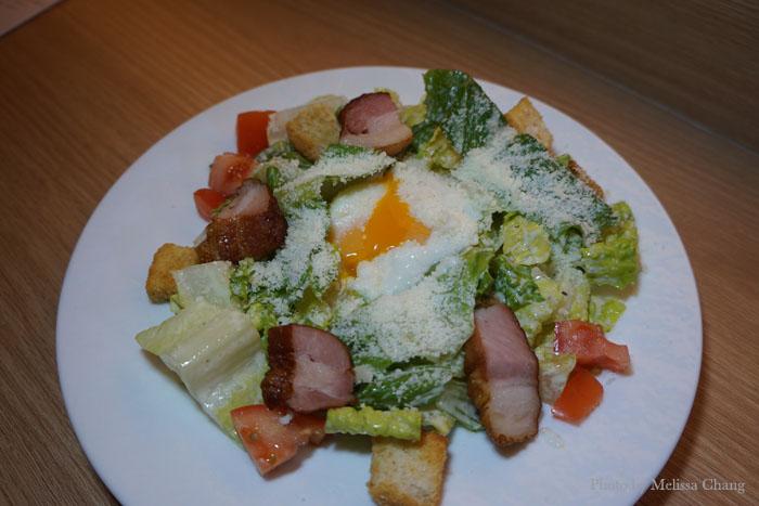 "Golden Pork's ""Caesar"" salad, $4 small and $7 regular."