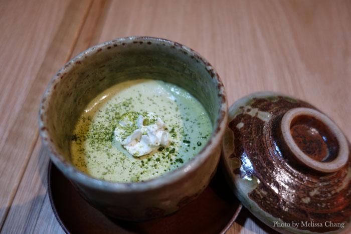 Green tea panna cotta, $4.50.