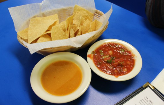 Chips and salsa are free the first round. A refill is $2.50 if your tab is under $30.