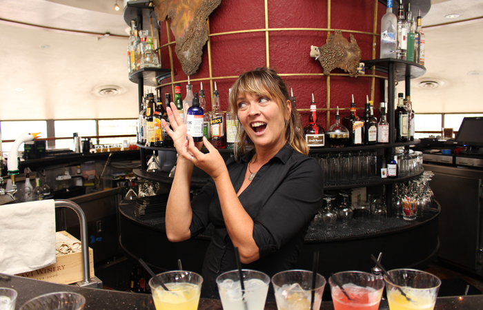 Ackrill is a lively presence behind the bar and shares her wealth of mixology knowledge with her guests.