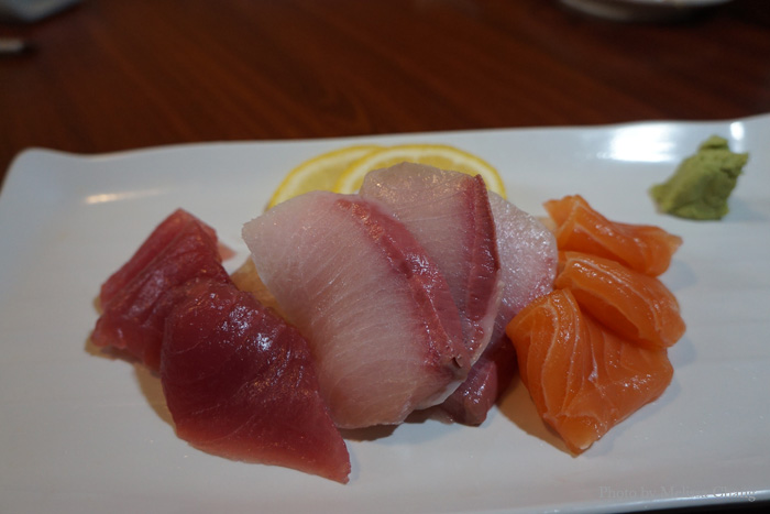 Five pieces of assorted sashimi. $16.95.