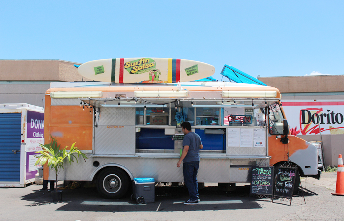 Right across the street from Mililani Golf Course, the Surfin' Salsa truck opens for lunch and dinner five days a week behind Mililani Shopping Center.