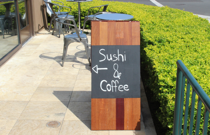 I don't usually think of sushi and coffee together. I was curious so I walked in.