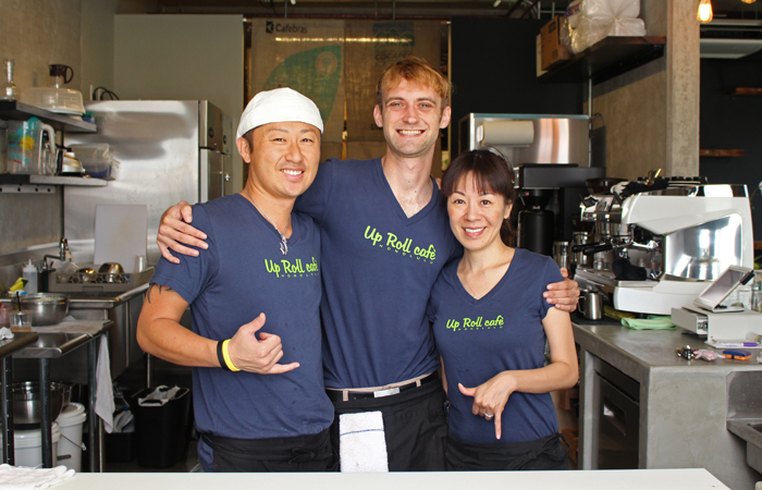 Team Up Roll: Manny Maniwa, Ryan Plaza and Anna Maniwa. Follow them on Instagram @UpRollCafe