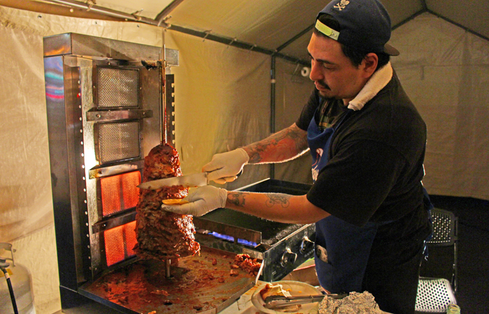 Last Friday they were serving up al pastor tacos ($2) all night long so be sure to follow their Facebook page.
