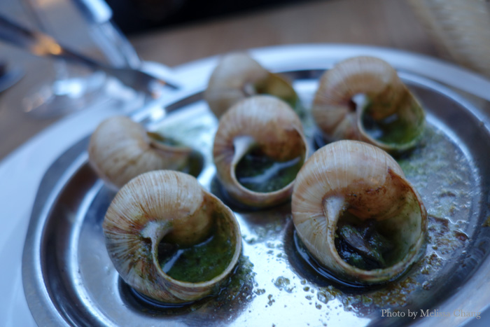 Escargot at Brasserie Le Carnot.