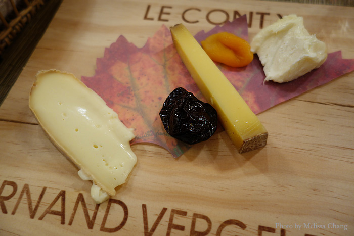 Cheese plate at Le Conty in Beaune.