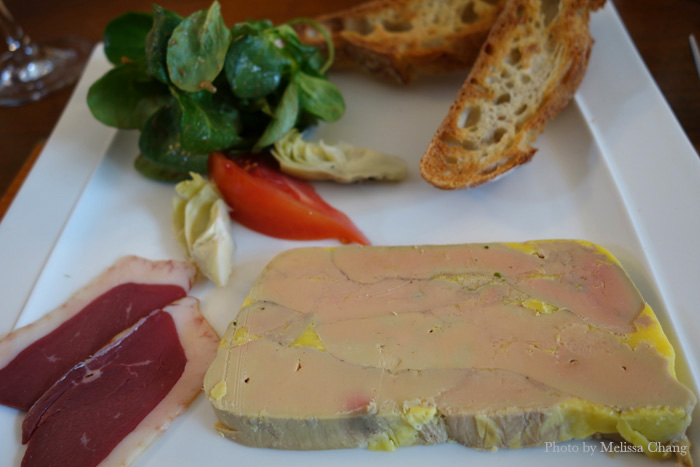 Foie gras en terrine at Ma Cuisine in Beaune.