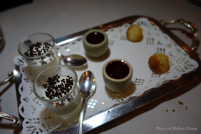 Petit fours at L'Ecusson in Beaune.