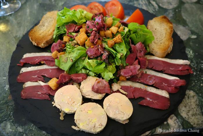 Salade gourmande at L'air du Temps in Beaune.