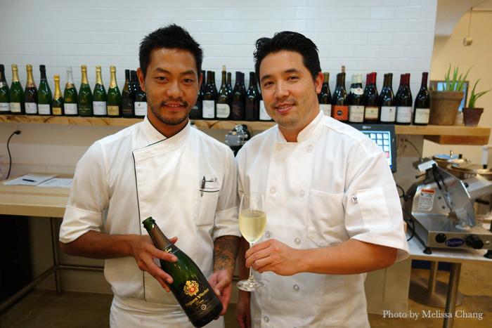 Chef Masa, left, and Justin Mizufuka.