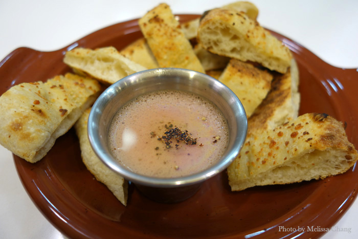 Chicken liver pate with truffle oil, $7.
