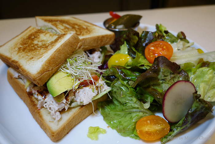 Smoked ahi sandwich with salad and pickled vegetables, $13. (Grab-and-go is $6.95.)