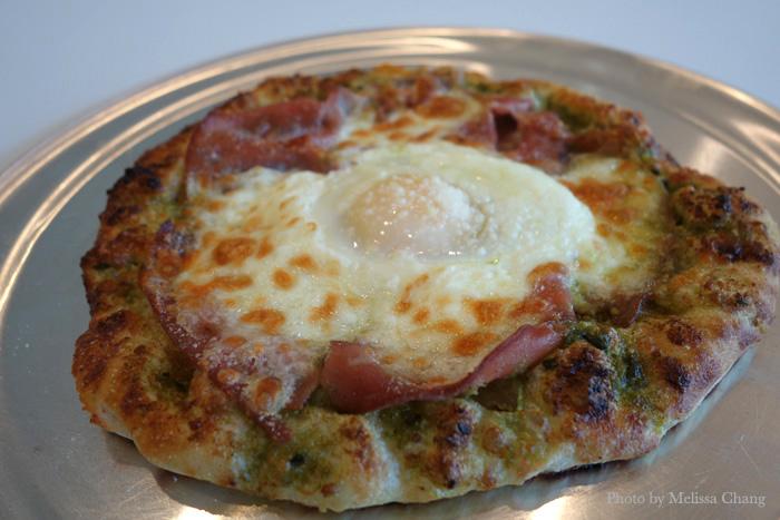 Breakfast pizza, $7.95.