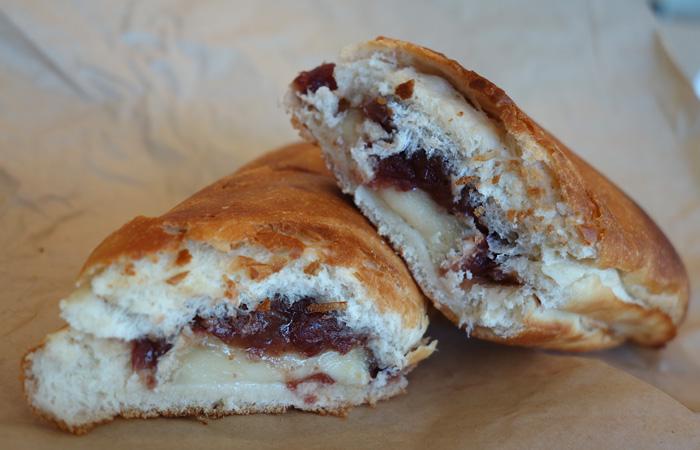 Red bean + brie sandwich $4.95.