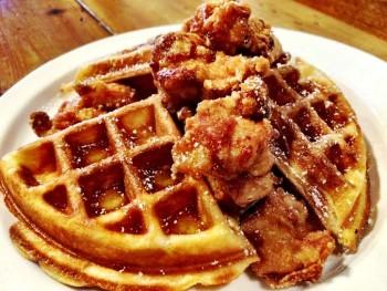 Mochiko Chicken and Waffles