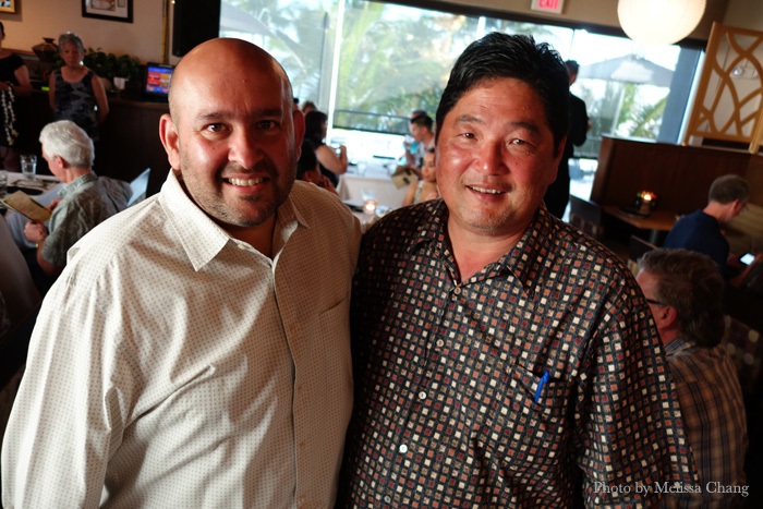 Sommelier-turned-winemaker Rajat Parr with master sommelier Chuck Furuya.