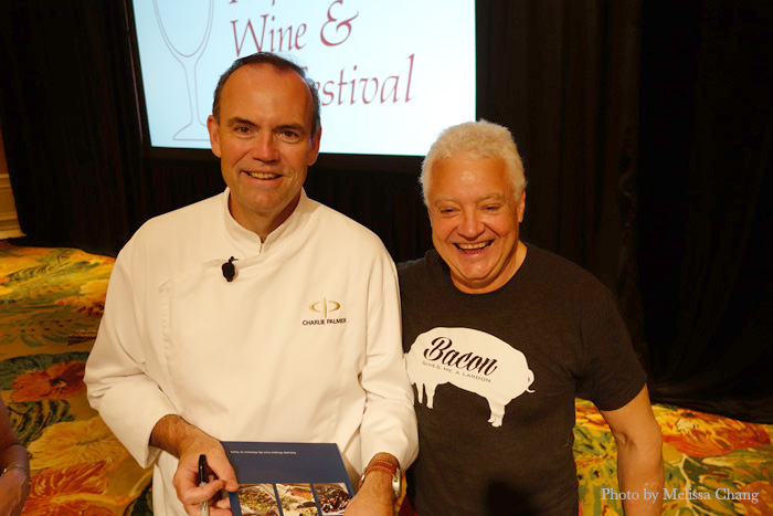 Chef Charlie Palmer and winemaker Daryl Groom, who are also good friends.