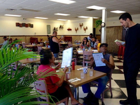 The decor is diner meets country inn. The customers so far are all residents who live nearby and the service is very attentive, yet boasts that local charm.