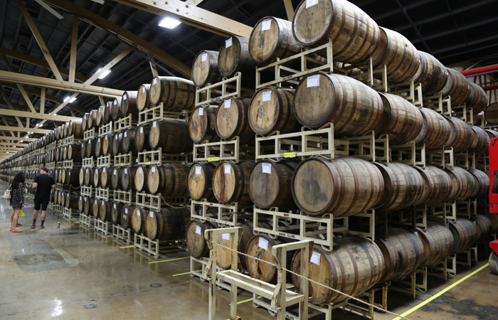 The Goose Island Barrel Warehouse definitely lived up to its name.