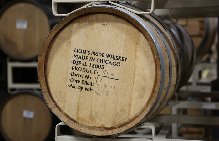 Admiring the neatly labeled barrels in the Goose Island warehouse. Can I just live here?