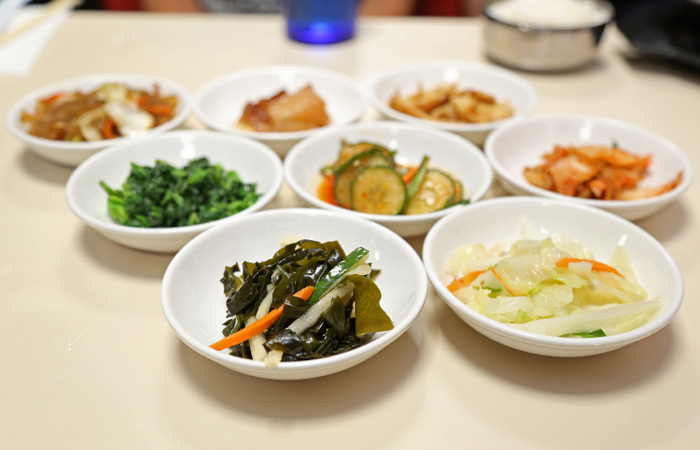 Banchan! The side dishes are generous.