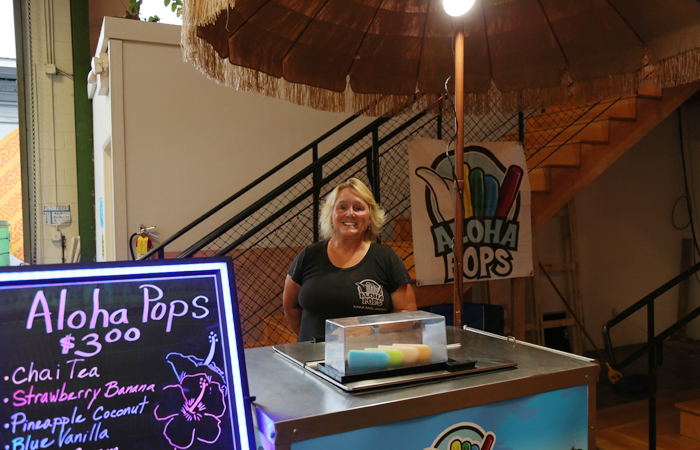 Kathy Sills of Aloha Pops brought frozen pops that hit the spot on this warm summer evening. The chai tea was delicious!