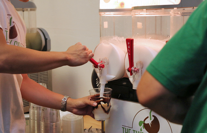 Thirsty Coconut's organic coconut mocha freeze was a crowd favorite. It really hit the spot as the event heated up.