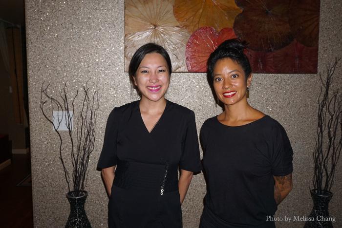 Akiko Chun (left) and Amy Hastanan of Laka Spa.