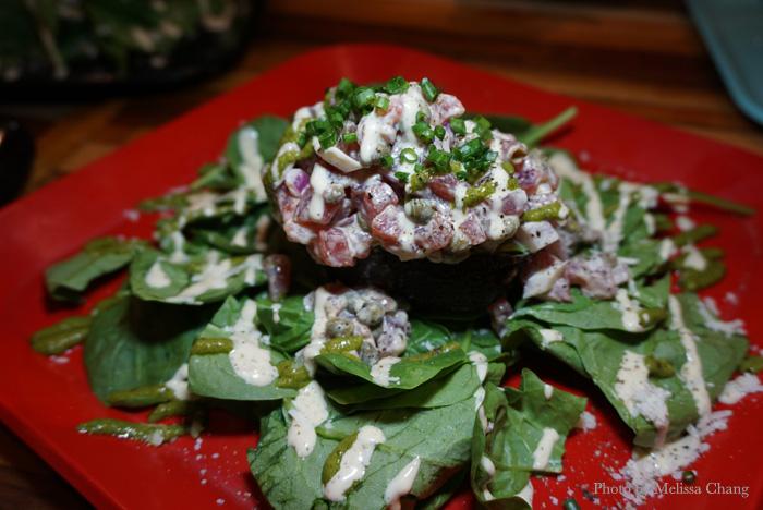 Ahi tartare salad at HiBlend (market price).