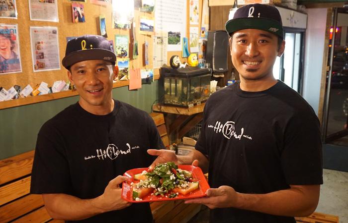 Joey (left) and Miles Sugahara of HiBlend. Missing: Partner Jason Chang.