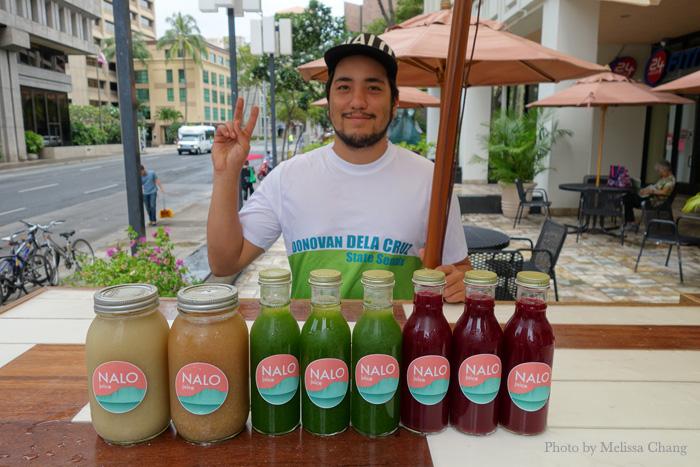 Kale Furuya greeting me with my first round of juice.
