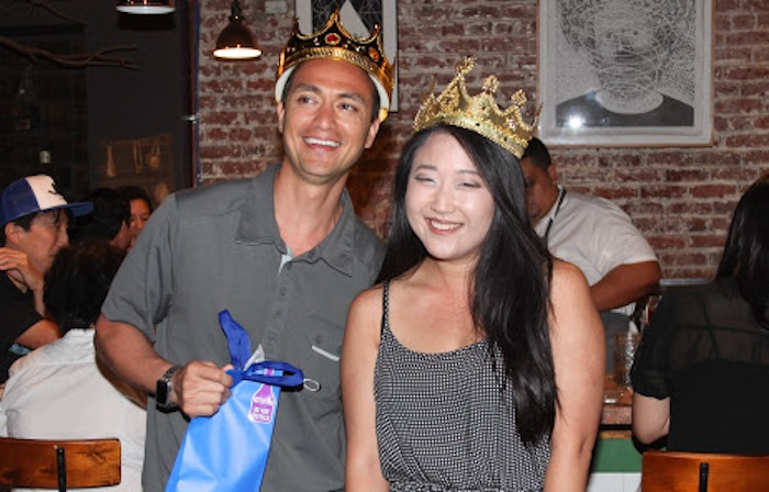 2015 Natto King and Natto Queen: They won a natto-themed word search game (she was MUCH faster)