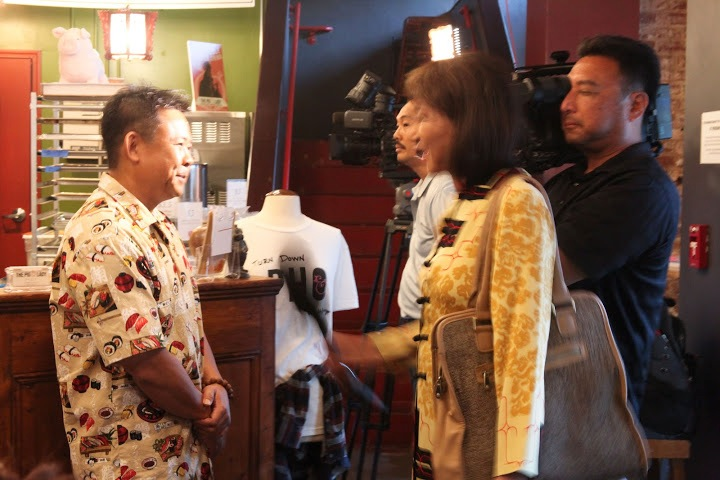 KITV is very curious. KHON, in back, seems less pleased
