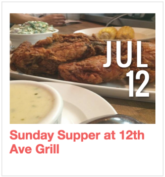 Sunday Supper at 12th Avenue Grill