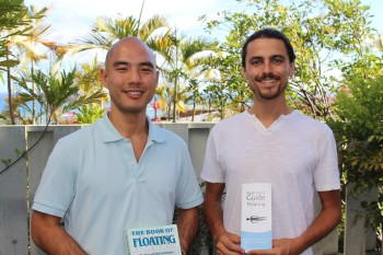 Geoff Sato, left, was given his first float as a gift from his girlfriend. He loved it so much that back in Hawaii, he opened Dream Float with partner Shawn Champion