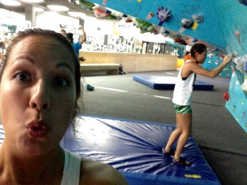 My first time at Volcanic Climbing & Fitness on the corner of Punahou and Beretania.