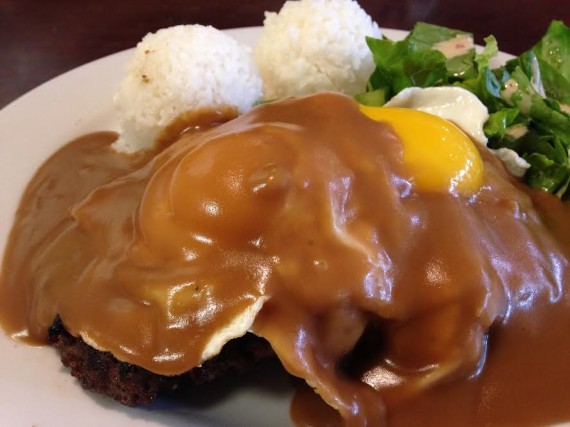 The loco moco at The Alley comes in three versions: breakfast, lunch and XL.