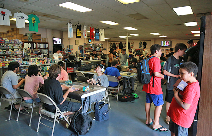 Sundays are busy with the weekly Magic tournament going down all day long.